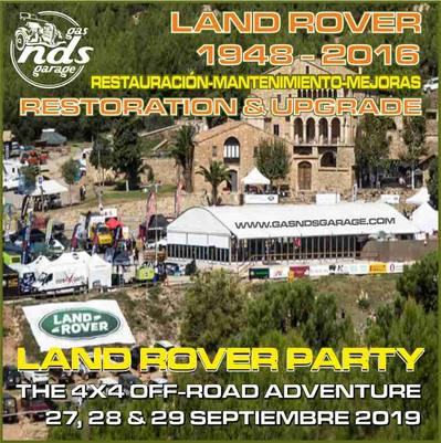 LAND ROVER PARTY 2019 - THE 4x4 OFF ROAD ADVENTURE