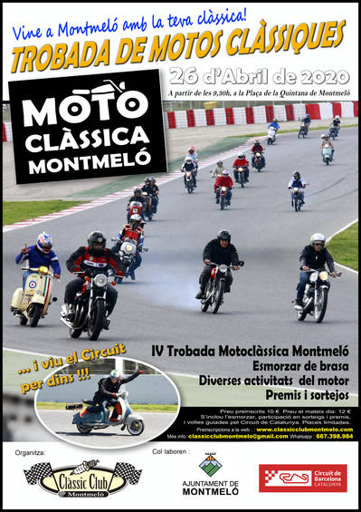 TROBADA MOTO CLÀSSICA A MONTMELÓ 2020