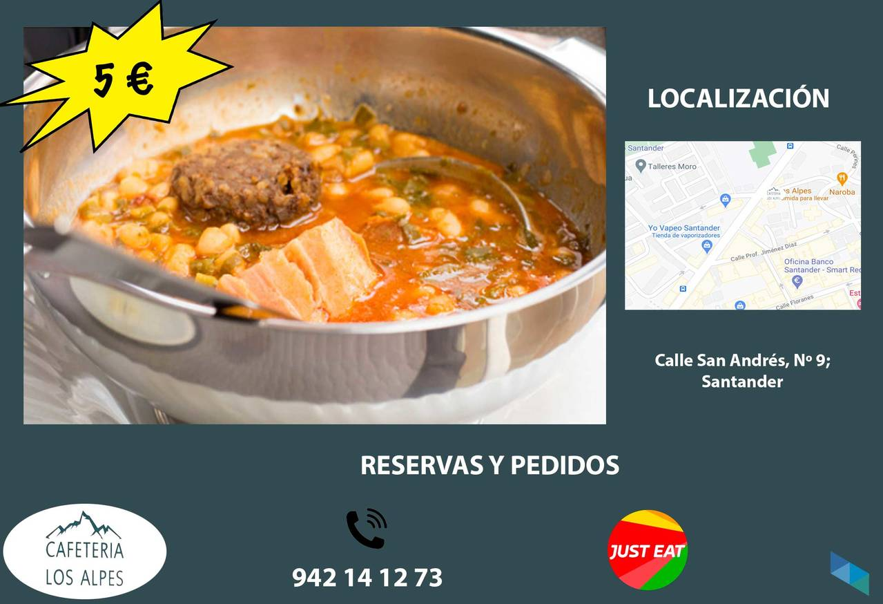 """""""The best railway stew pots"""" Cafetería Los Alpes [2] [2] [2] [2]"""