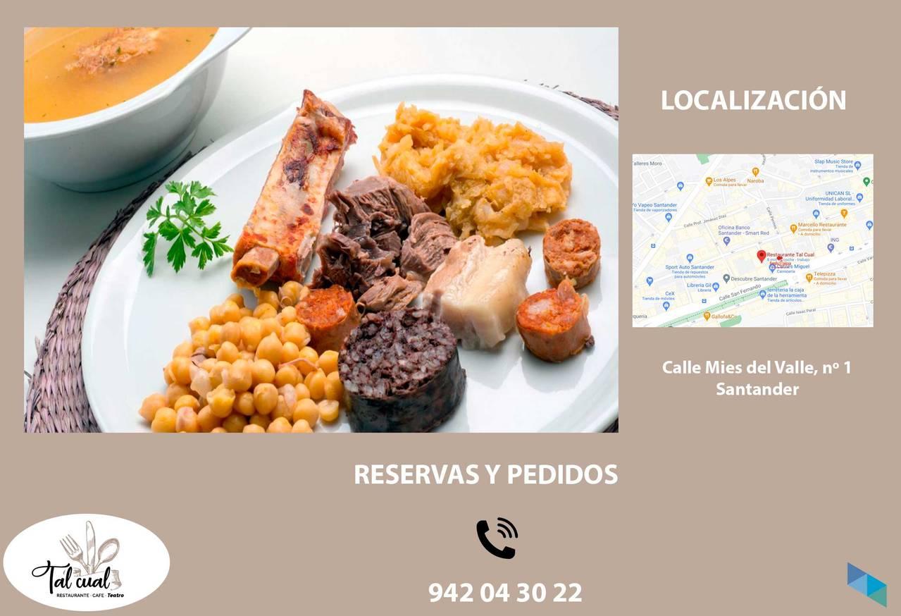 """Cocido Lebaniego or Montañes to take away"" Restaurant Tal Cual"