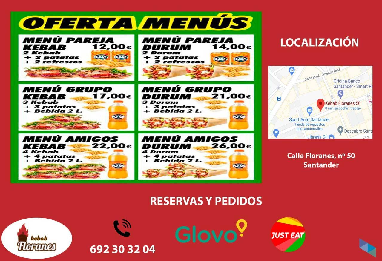 """""""Kebab group menu"""" Kebab Floranes [2] [2] [2] [2]"""