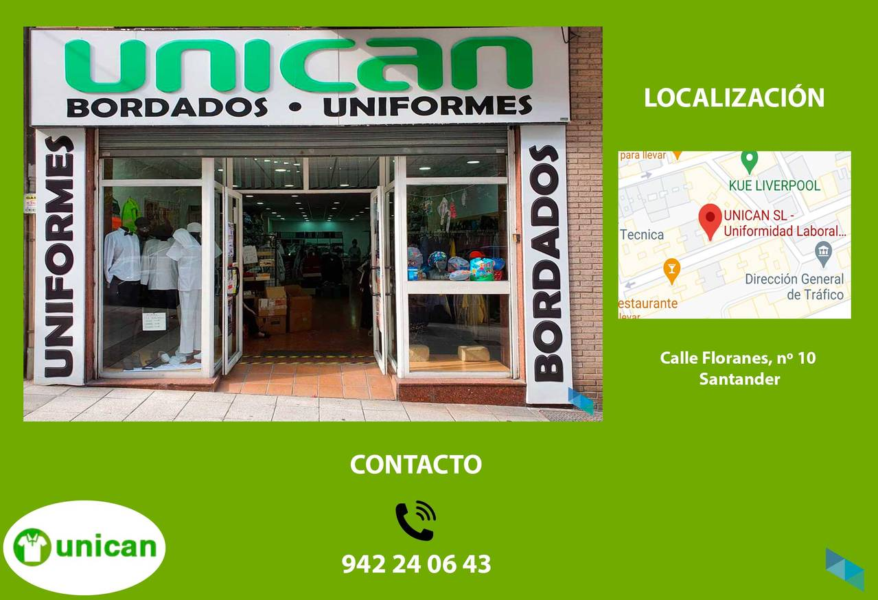 """Get your uniform at the best price"" Cantabria Uniforms [2] [2] [2] [2] [2]"