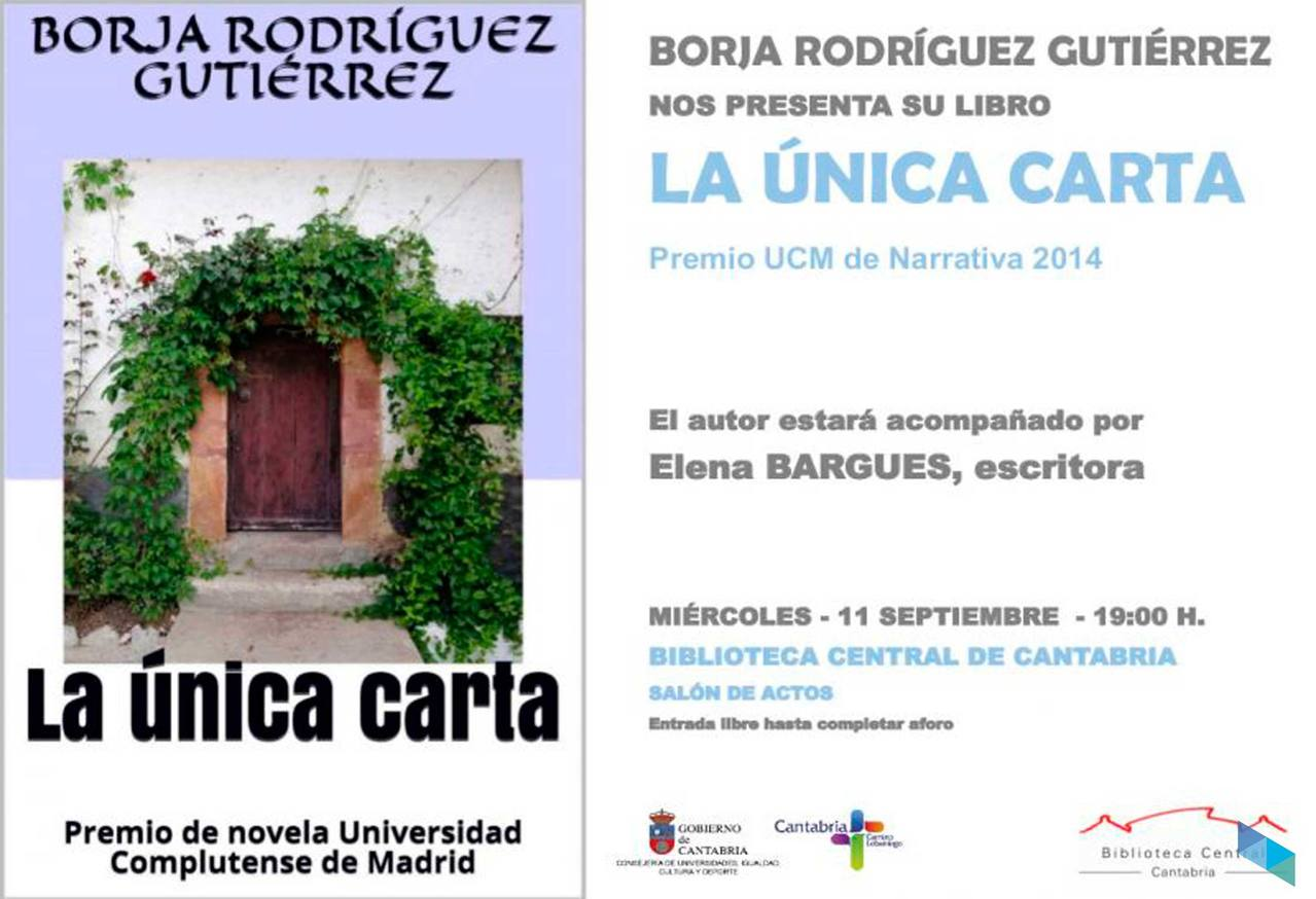 """Borja Rodríguez presents the book """"The only letter"""""""