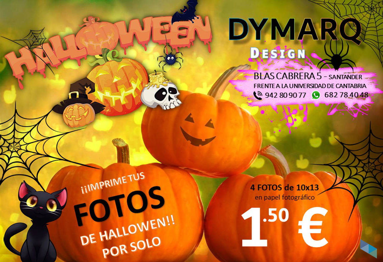 """Print your Halloween photographs at the best price"" Dymarq Design"