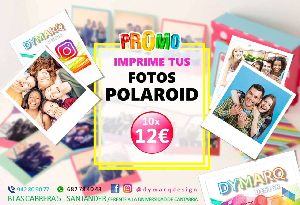 """Print your polaroid photos HERE"" Dymarq Design"