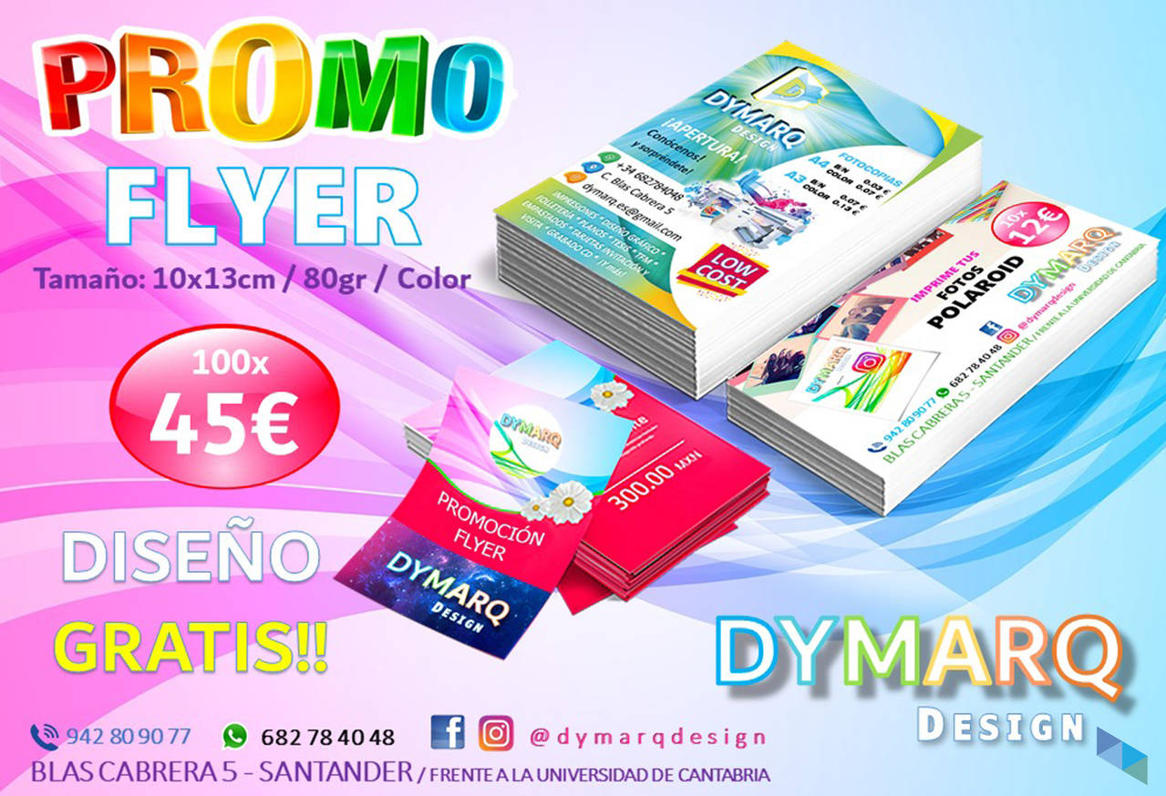 """Amazing promotion to print your FLYERS; now free design"" Dymarq Design"