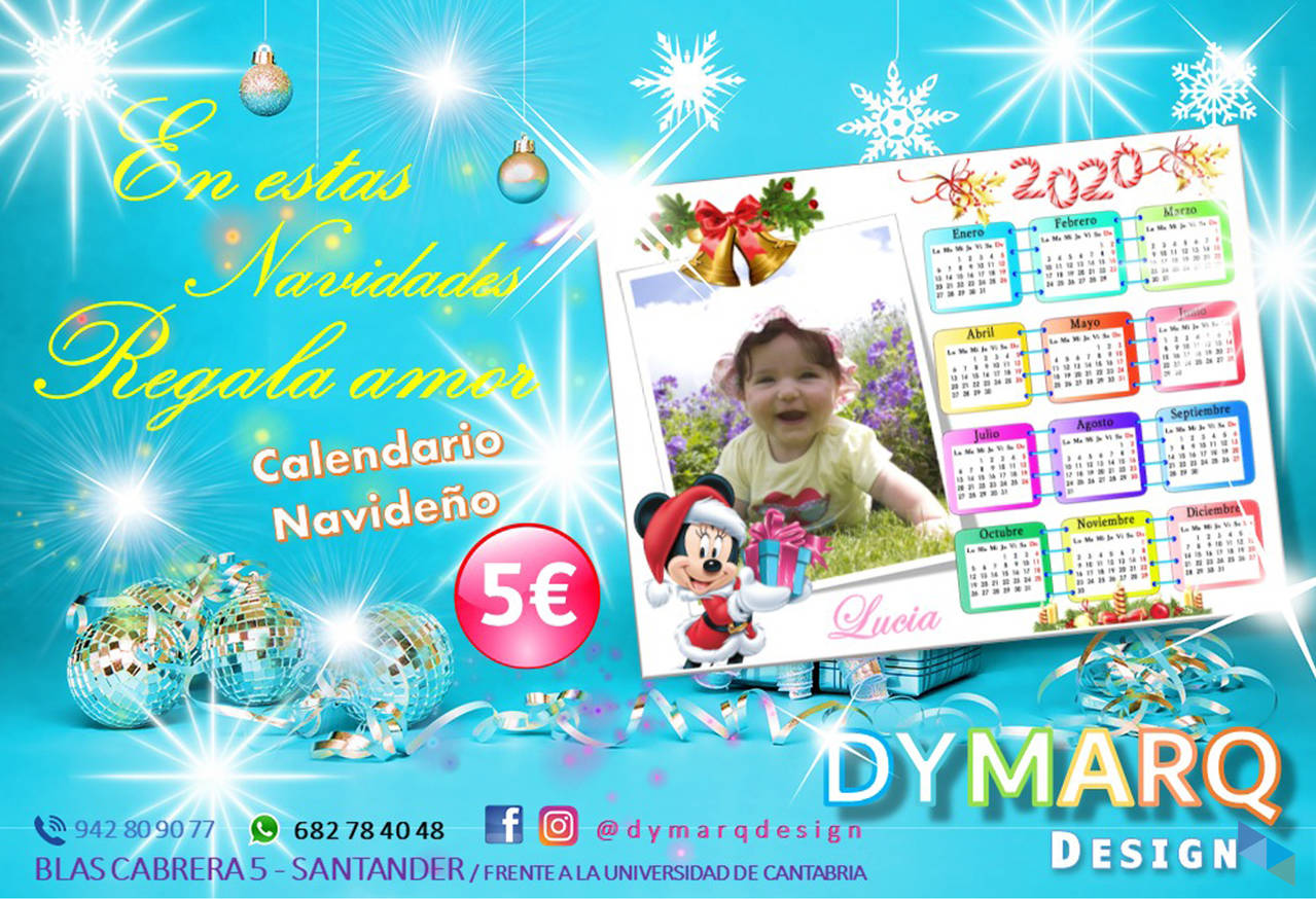 """Christmas calendar; a perfect gift at the best price"" Dymarq Design"