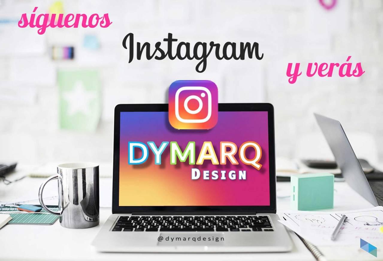 """""""Follow us on Instagram"""" Dymarq Design"""