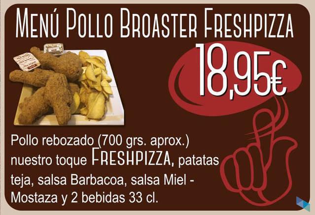 """""""Broaster Chicken Menu"""" Fresh Pizza Santander"""