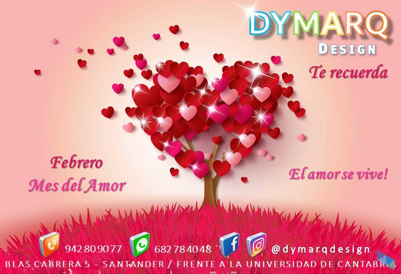 """We wish you happy Valentine"" Dymarq Design"