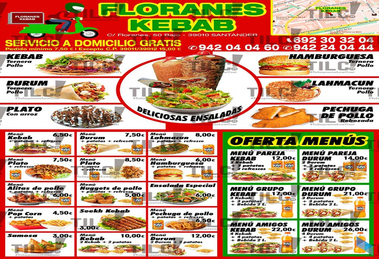 """""""Ask for a menu for two; it's San Valentin"""" Kebab Floranes."""