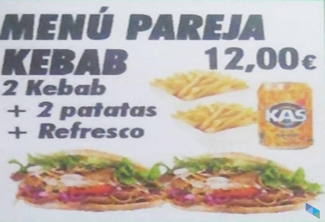 """""""Menú de pareja"""" Kebab Floranes"""
