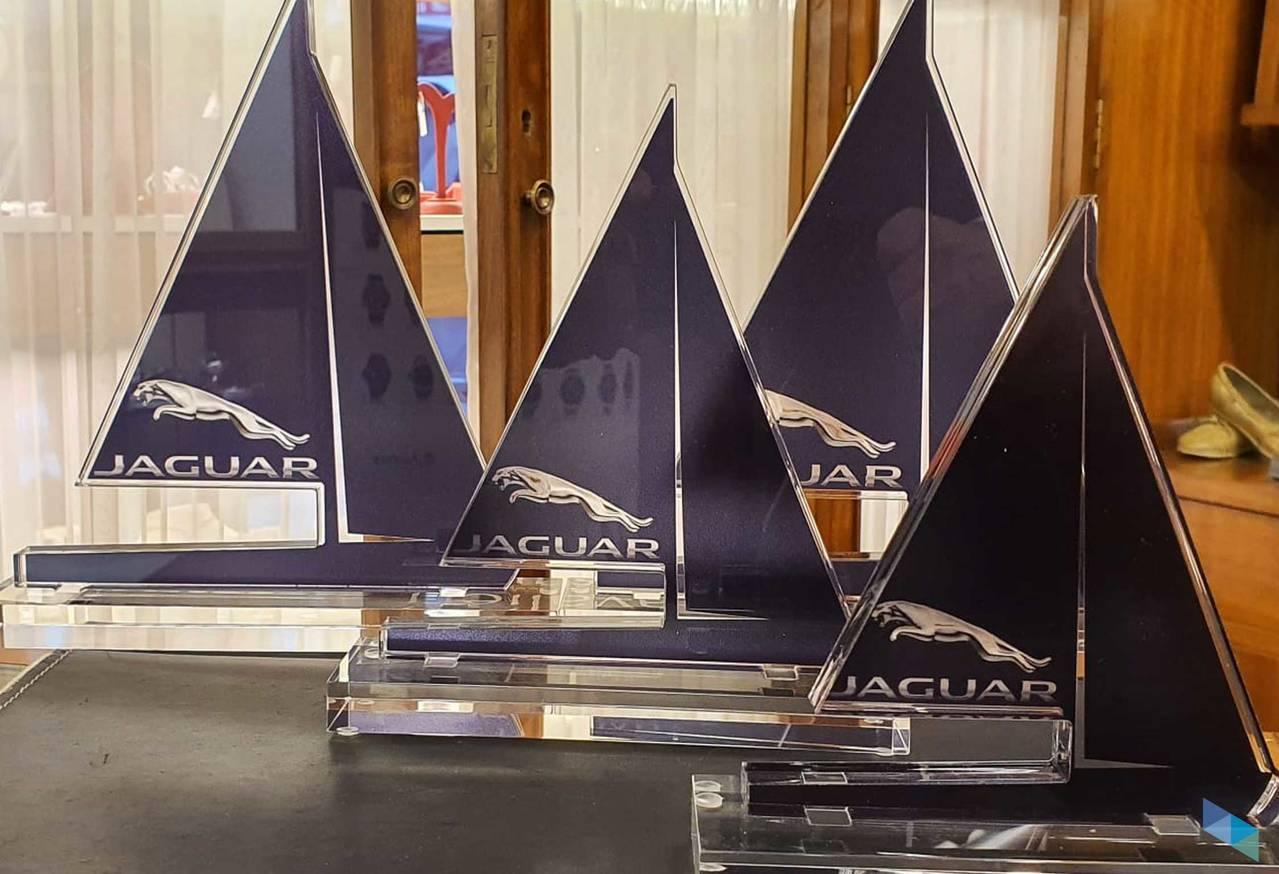"""""""Methacrylate candle trophies designed by us"""" Javier Joyeros"""