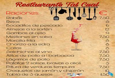 """""""Ven a comer nuestras ricas raciones, sartenes..."""" Restaurante Tal Cual"""
