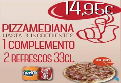 """Menú para compartir"" Fresh Pizza Santander"