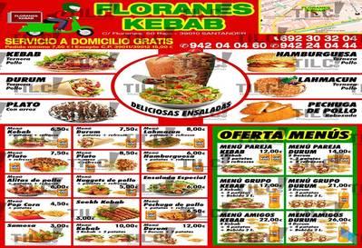 """""""Menú 2 kebabs + de patatas"""" Kebab Floranes"""