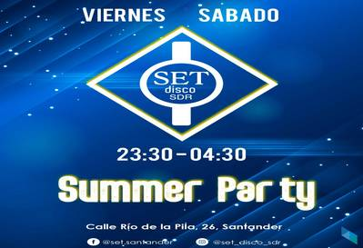 """Summer Party Viernes y Sábado"" Pub Set Disco SDR"