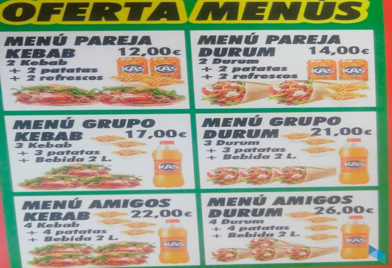 """""""Los mejores menús de Kebab en Santander"""" Kebab Floranes"""