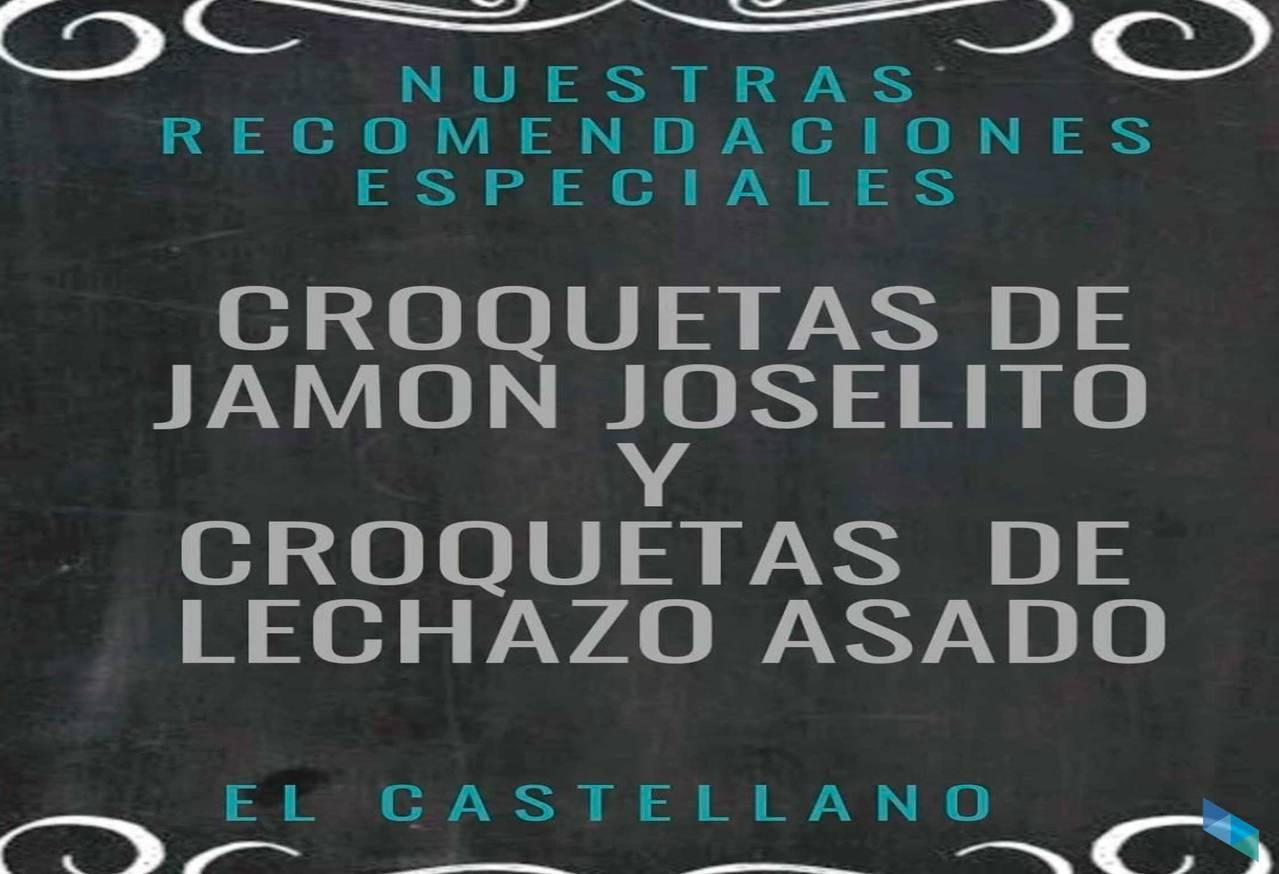 """""""Prueba nuestras famosas croquetas 3C"""" Restaurante El Castellano"""