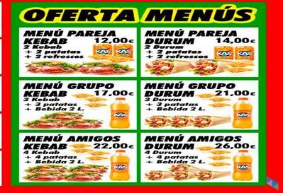 """""""Las mejores ofertas para dos"""" Kebab Floranes"""