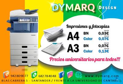"""The best prices on photocopies"" Dymarq Design"