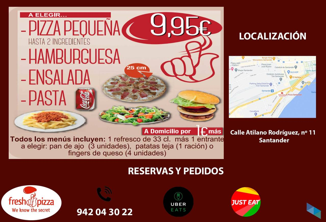 """""""The best, at the best price"""" Fresh Pizza Santander"""