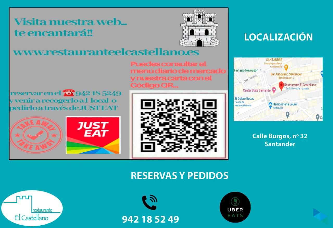 """""""Letter digitized in this QR"""" El Castellano Restaurant"""