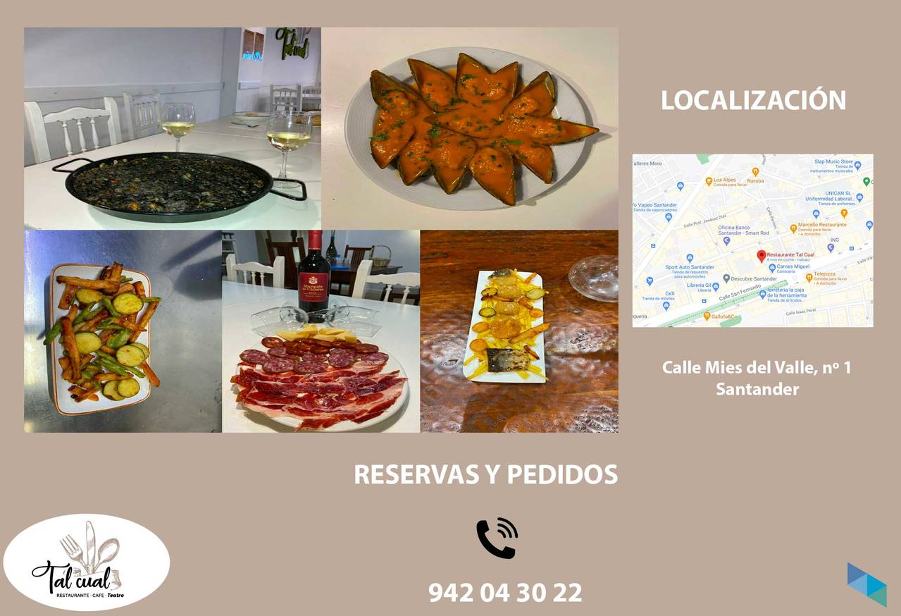 """""""Enjoy our delicious recipes at home"""" Tal Cual Restaurant"""