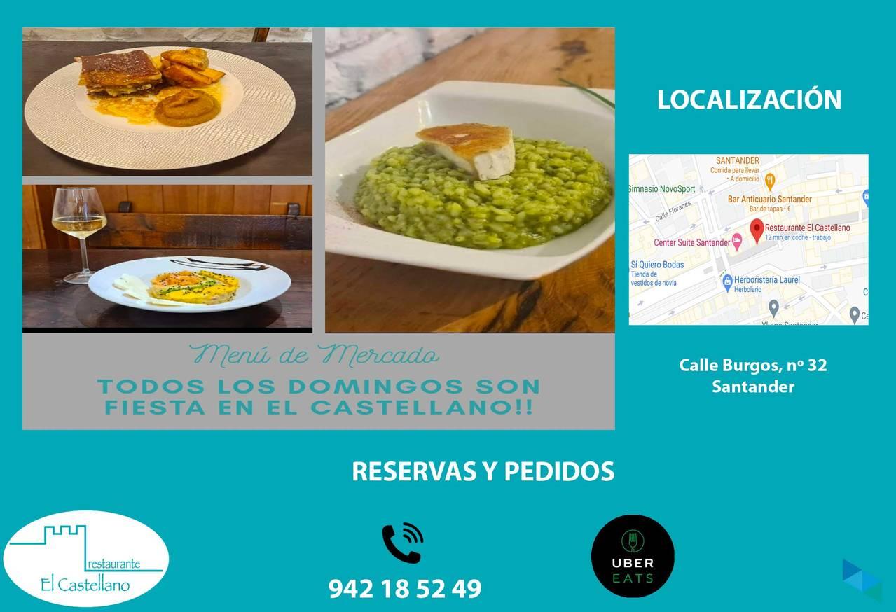 """""""Menú de Mercado"""" Restaurante El Castellano"""