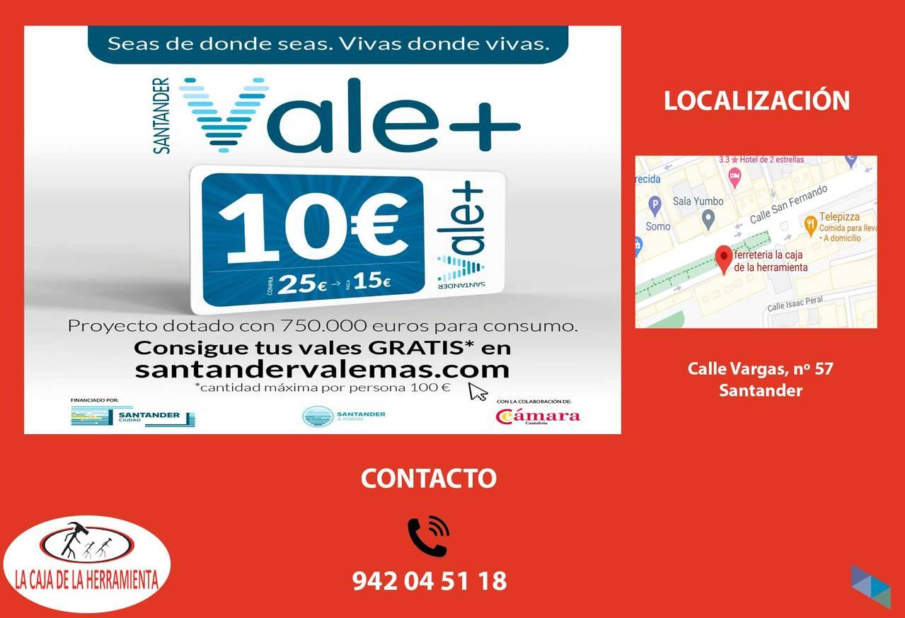 """Adhered to the Santander Vale + program"" The Tool Box"