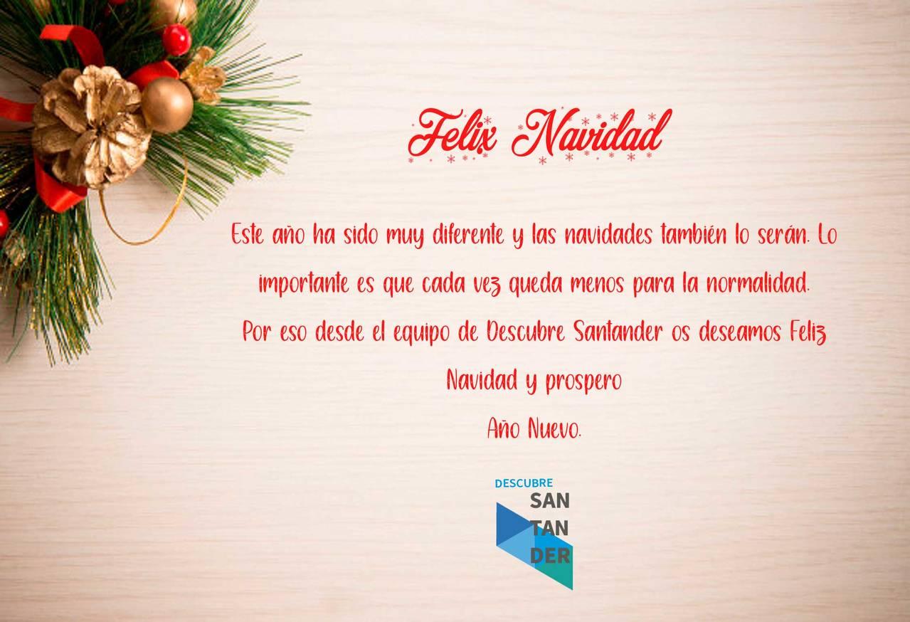 Desde el equipo de Descubre Santander os deseamos Feliz Navidad y prospero Año nuevo.