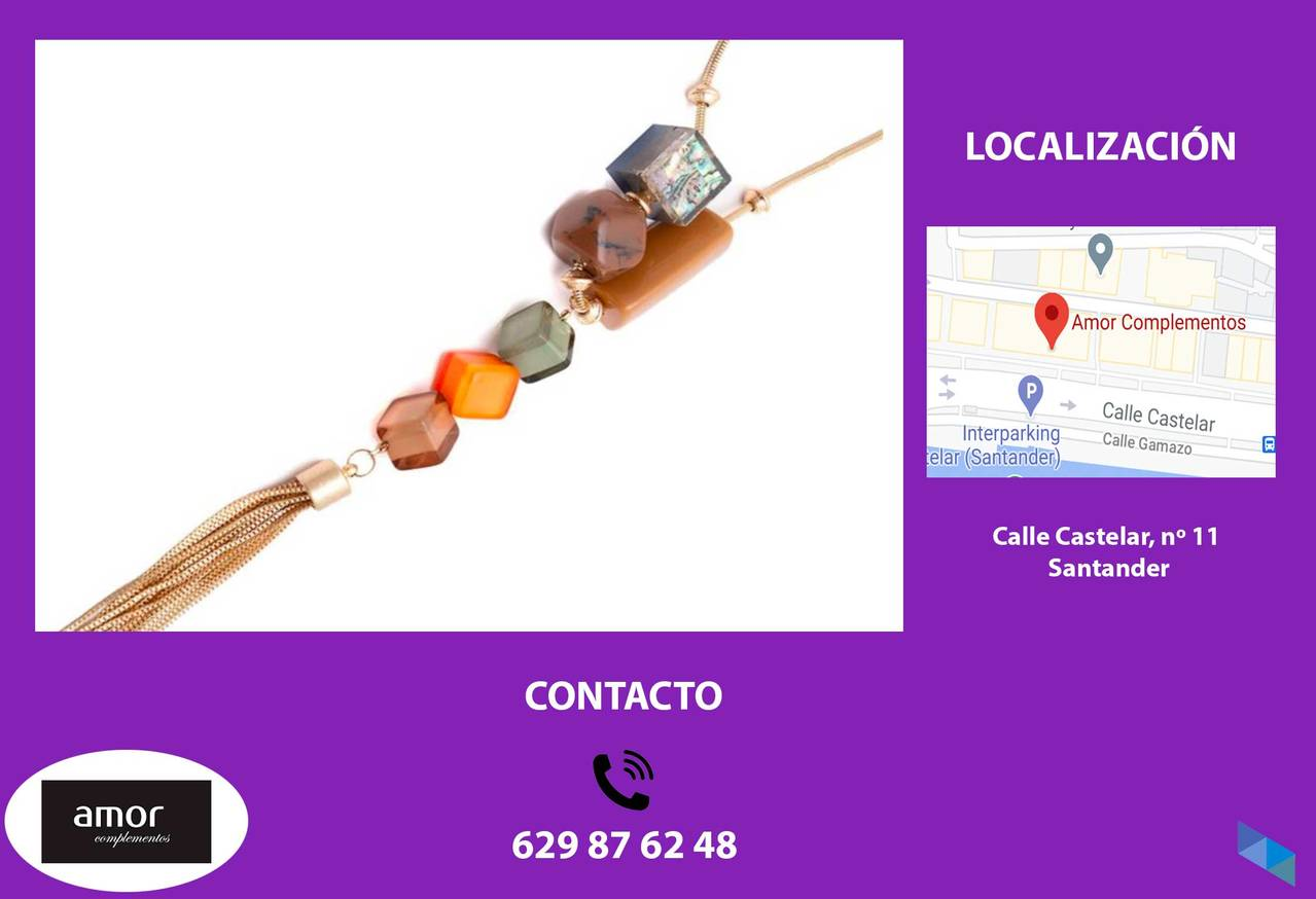 """Acrylic and metal necklaces"" Love accessories"