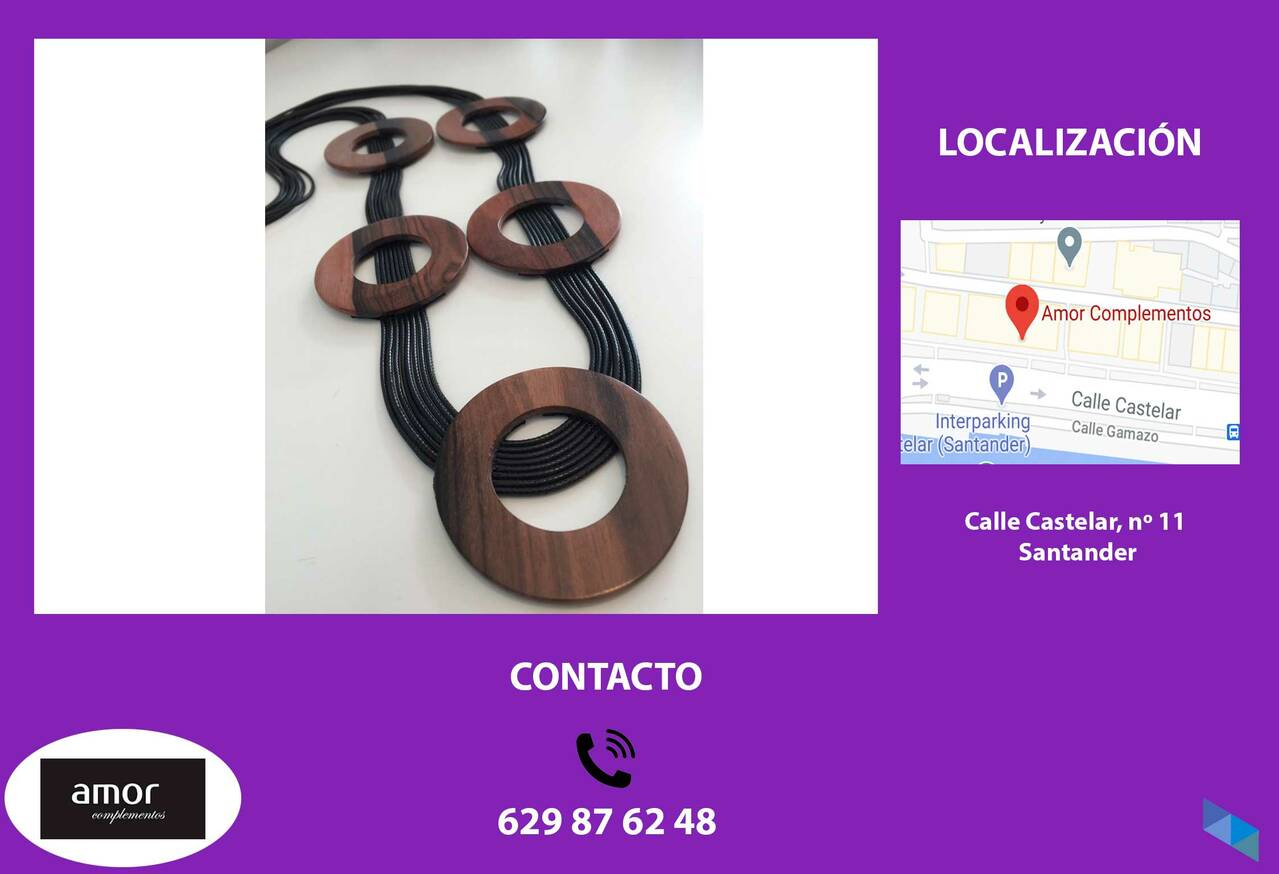 """Wooden necklaces"" Love accessories"