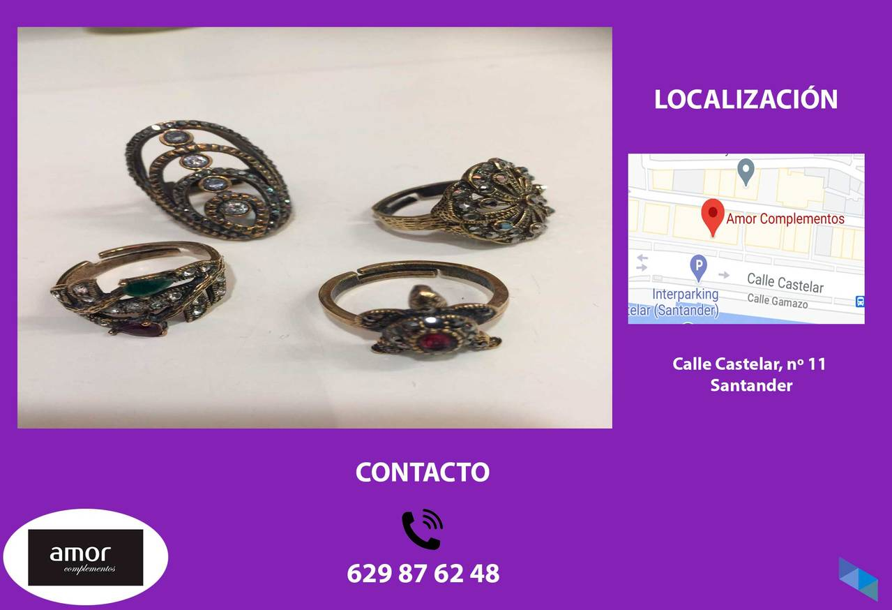 """Turkish Bronze Rings"" Love Accessories"