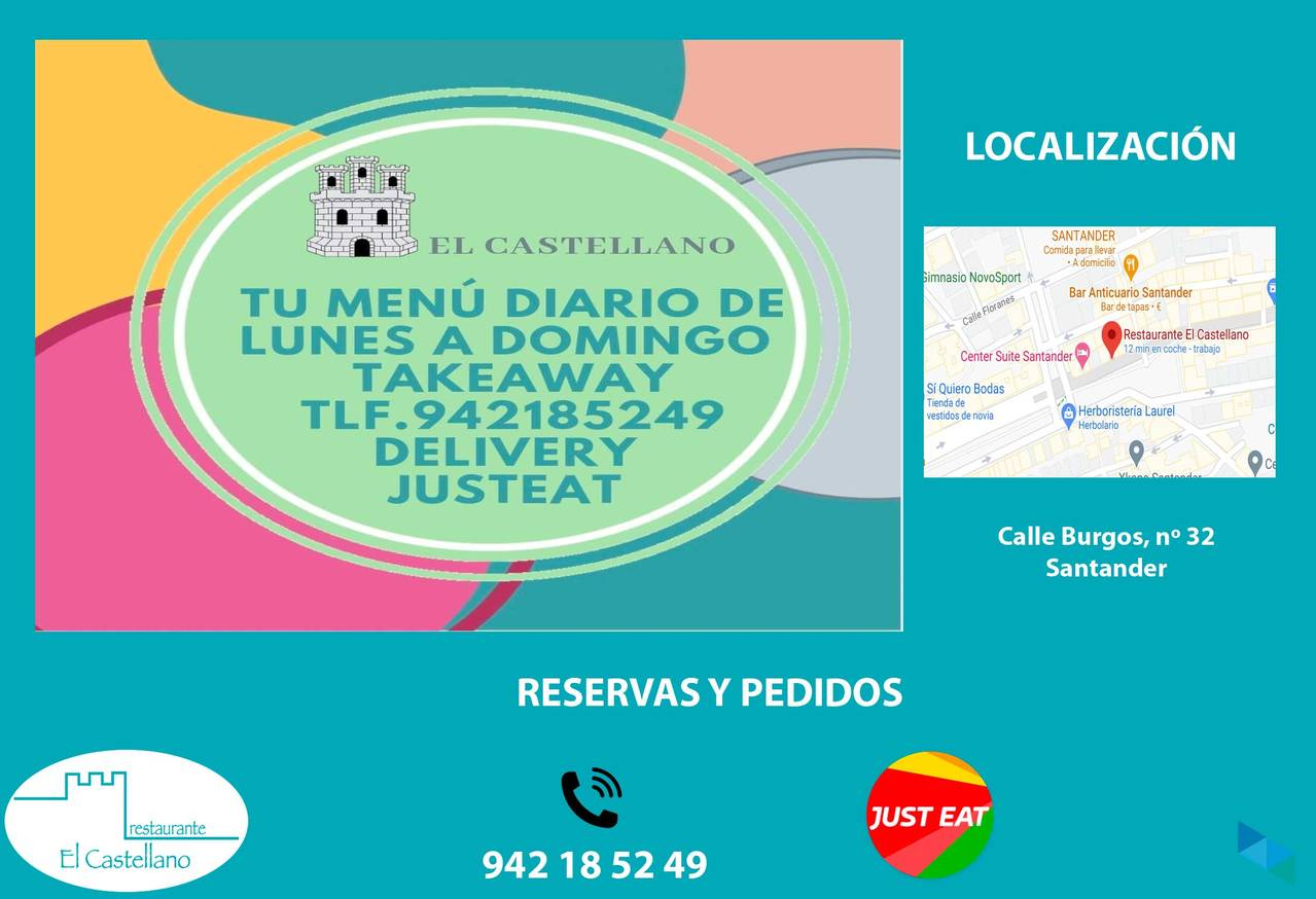 """Menu of the day"" Restaurant El Castellano"