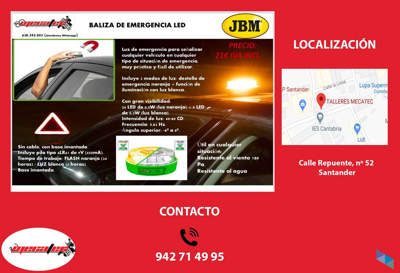 """LED emergency beacon"" Mecatec Workshop"