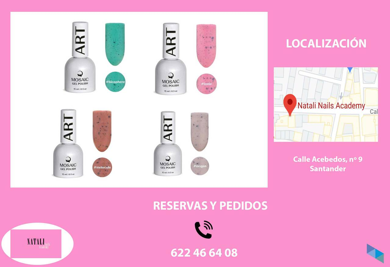 """Discover our new enamels"" Natali Nails"