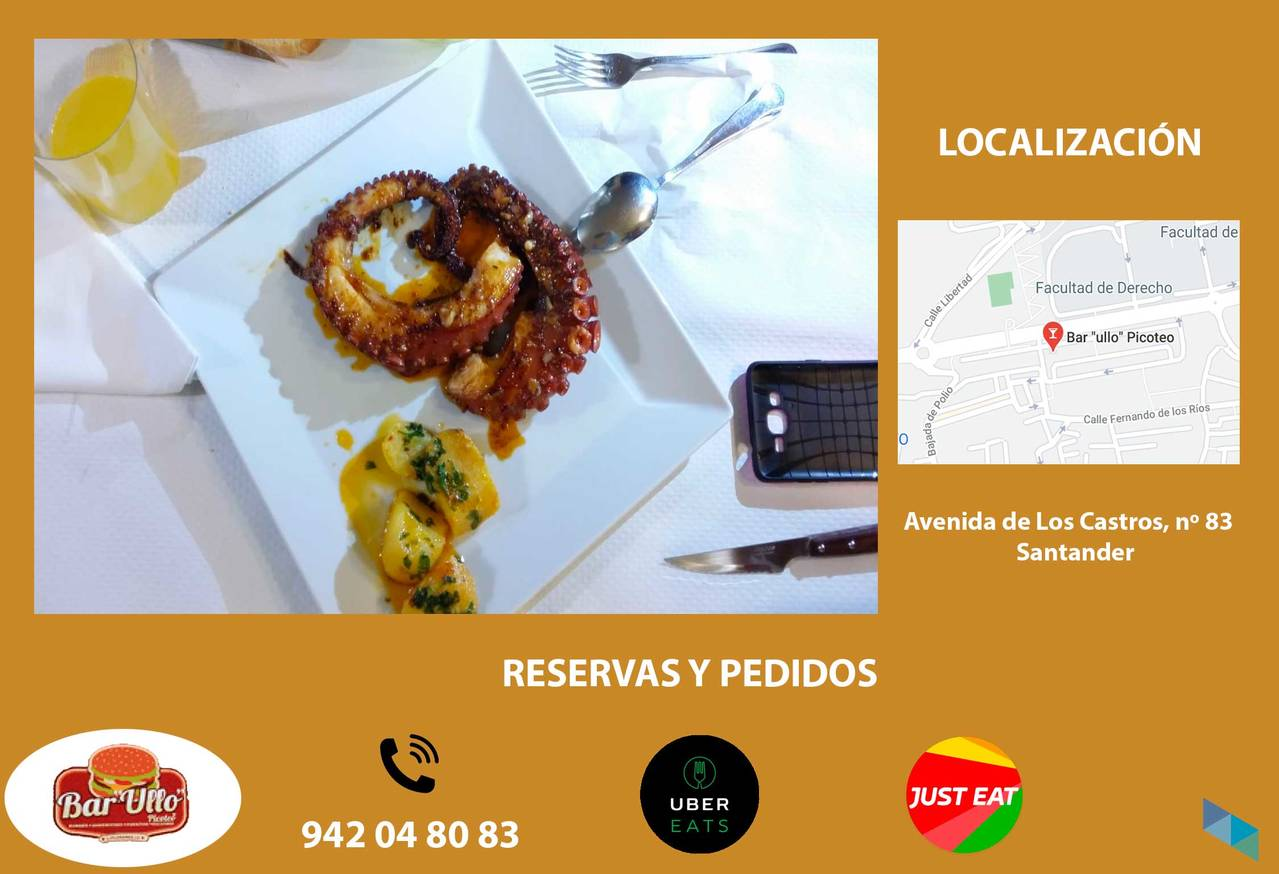 """""""Come and taste our incredible octopus"""" Bar Ullo"""