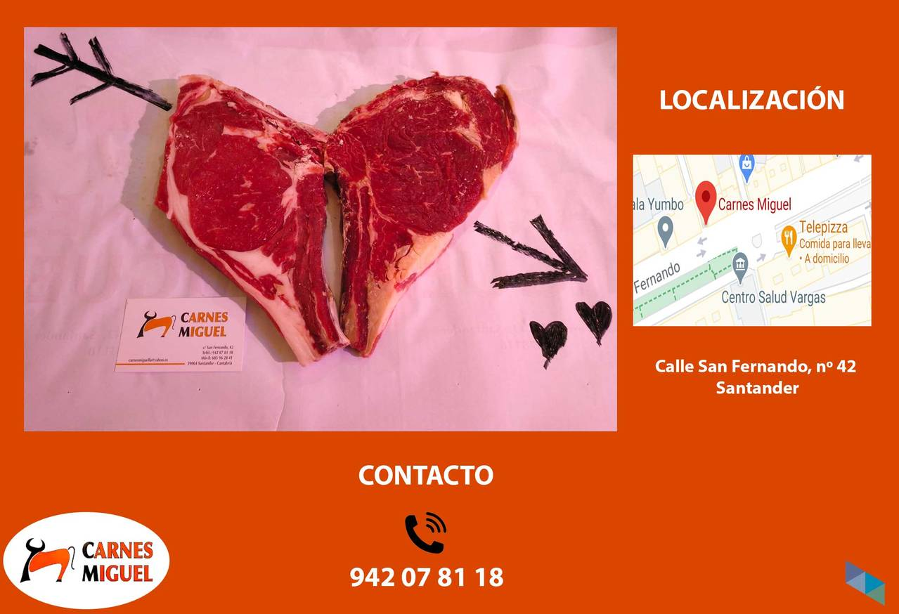 """Meats that fall in love"" Carnes Miguel"