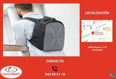 """INNOVAGOODS Safty Anti-Theft Backpack"" The Tool Box"