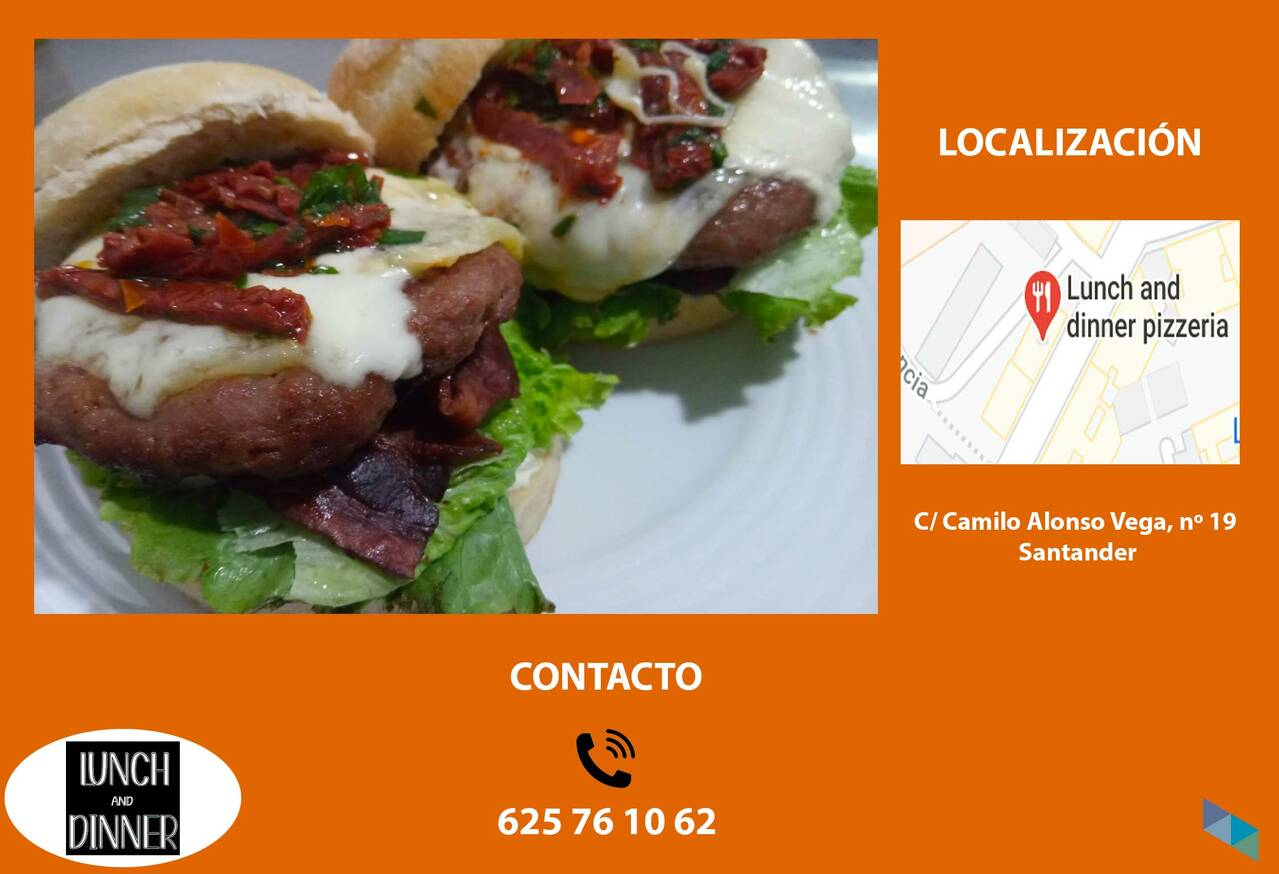 """""""Colombian chorizo burger"""" Lunch and Dinner Santander"""
