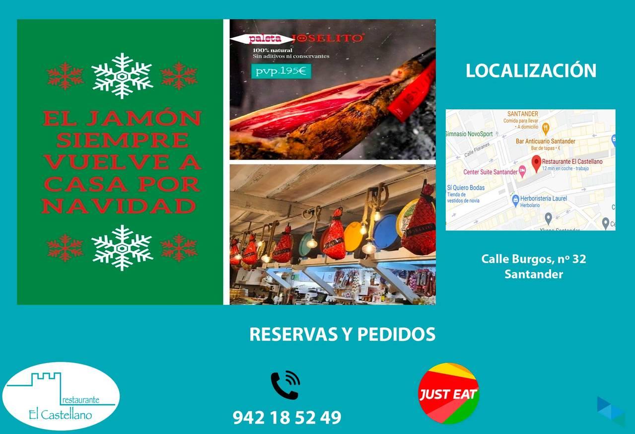 """The ham returns for Christmas"" Restaurante El Castellano"
