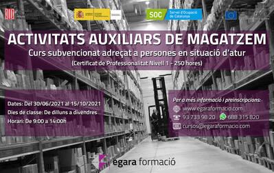 ACTIVITATS AUXILIARS DE MAGATZEM (SUBVENCIONAT)