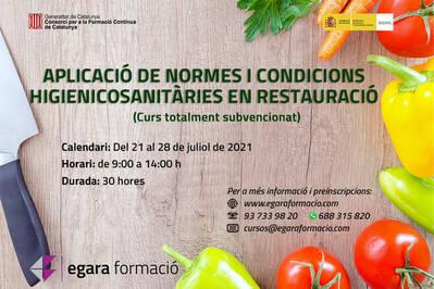 APLICACIÓ DE NORMES I CONDICIONS HIGIENICOSANITÀRIES EN RESTAURACIÓ (SUBVENCIONAT)