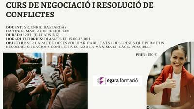 CURS DE NEGOCIACIÓ I RESOLUCIÓ DE CONFLICTES