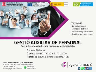 GESTIÓN AUXILIAR DE PERSONAL (SUBVENCIONADO)