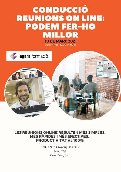 CONDUCCIÓ REUNIONS ON LINE: PODEM FER-HO MILLOR