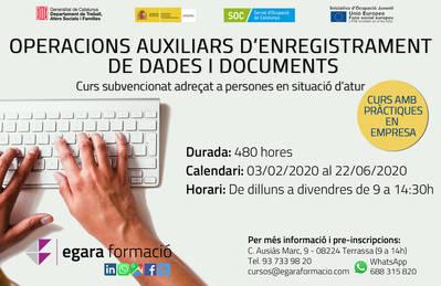 OPERACIONES AUXILIARES DE GRABACIÓN Y TRATAMIENTO DE DATOS Y DOCUMENTOS