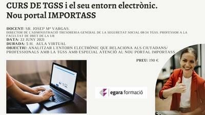 CURS TGSS I EL SEU ENTORN ELECTRÒNIC. EL NOU PORTAL IMPORTASS