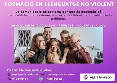 FORMACIÓ EN LLENGUATGE NO VIOLENT